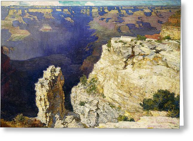The Grand Canyon Greeting Card by Edward Henry Potthast