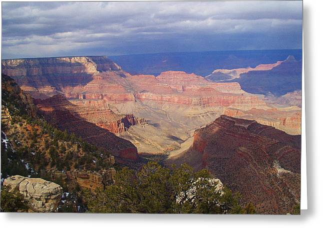 The Grand Canyon Greeting Card by Marna Edwards Flavell