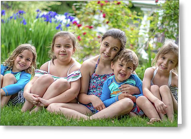 The Grand Kids In The Garden Greeting Card