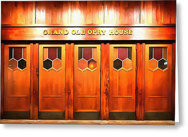 The Grand Ole Opry Greeting Card by Dan Sproul