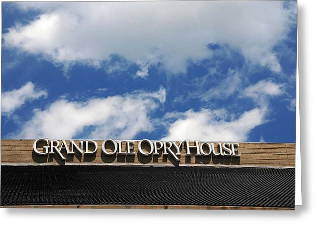 The Grand Ole Opry Nashville Tn Greeting Card by Susanne Van Hulst