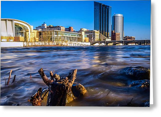 The Grand River Greeting Card by Laura Christensen