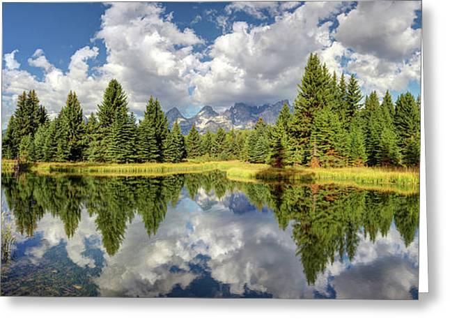 The Grand Tetons National Park Reflection Olena Art Photography  Greeting Card