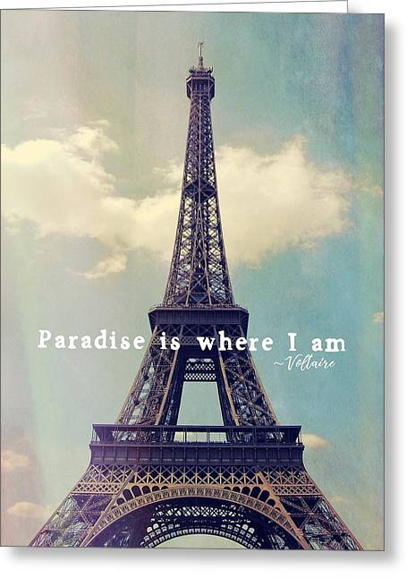 The Grande Dame Quote Greeting Card by JAMART Photography