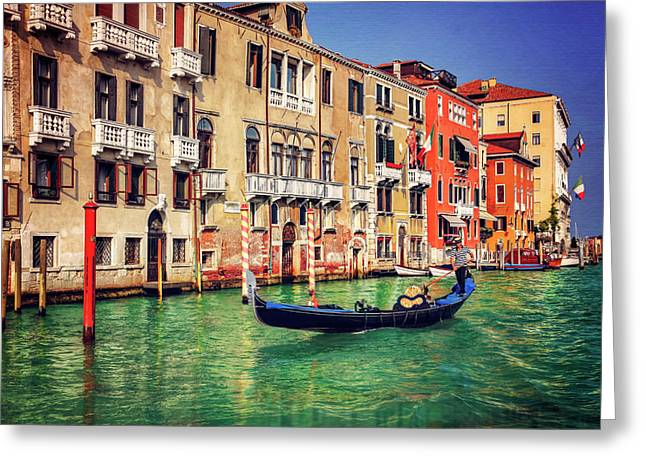 The Grandeur Of The Grand Canal Venice  Greeting Card