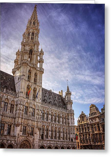 The Grandeur Of The Grand Place Brussels  Greeting Card