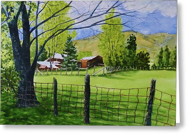 The Grass Is Greener Greeting Card by Don Bosley