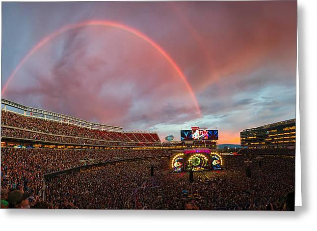 The Grateful Dead Rainbow Of Santa Clara, California Greeting Card by Beau Rogers
