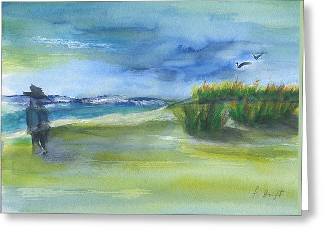 The Gray Man Visits Pawleys Island Sc Greeting Card