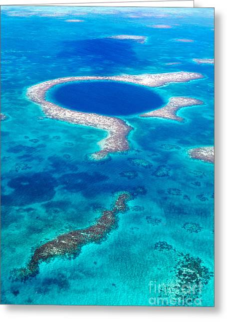 The Great Blue Hole - Belize Greeting Card by Matteo Colombo