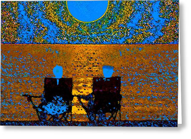 The Great Blue Moon Greeting Card by David Lee Thompson