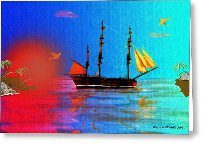 The Great Escape Greeting Card by Madeline  Allen - SmudgeArt