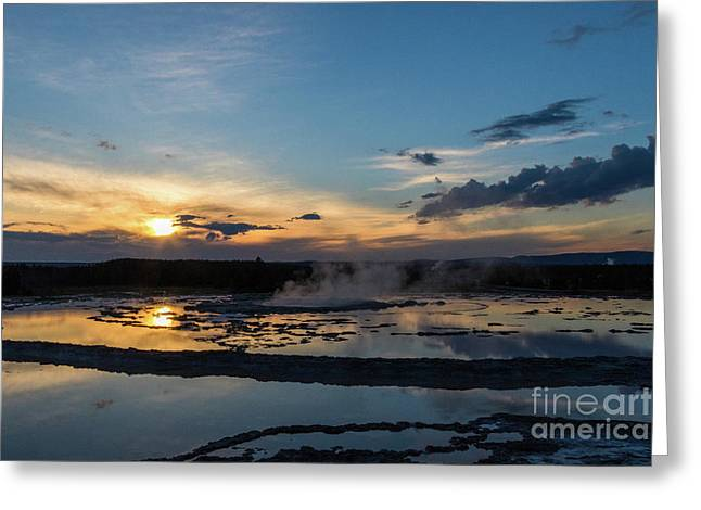 The Great Fountain Geyser Greeting Card