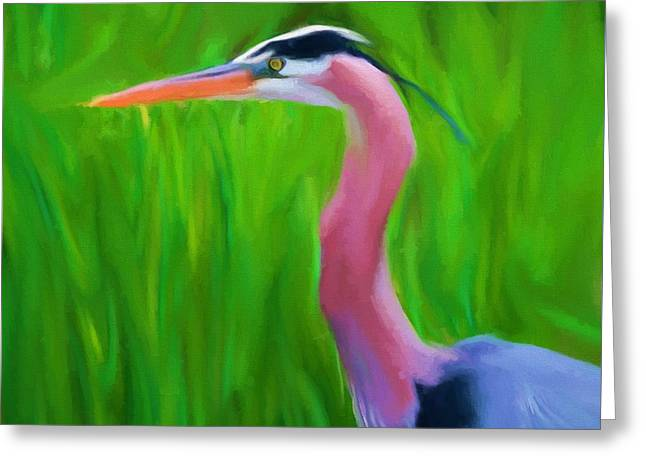 The Great Heron Greeting Card by Dan Sproul