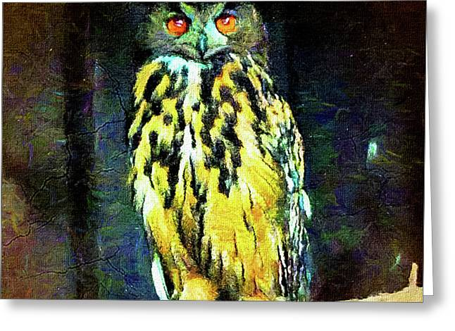 The Great Horned Owl Greeting Card
