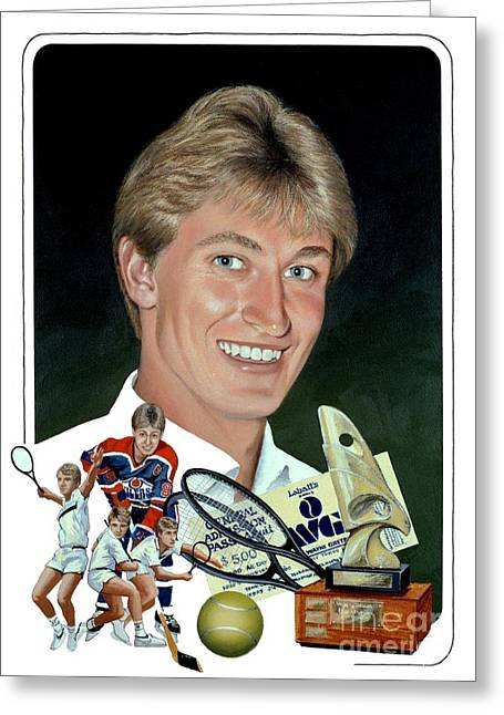 The Great One - Oiler Days Greeting Card by Michael Swanson