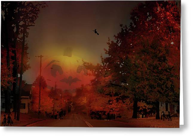 The Great Pumpkin Greeting Card by John Meader
