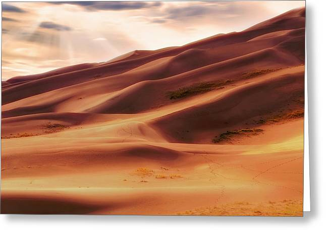 The Great Sand Dunes Of Colorado - Landscape - Sunset Greeting Card by Jason Politte