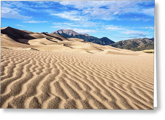 The Great Sand Dunes Of Colorado Greeting Card