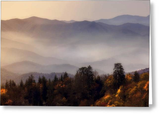 Greeting Card featuring the photograph The Great Smoky Mountains by Ellen Heaverlo