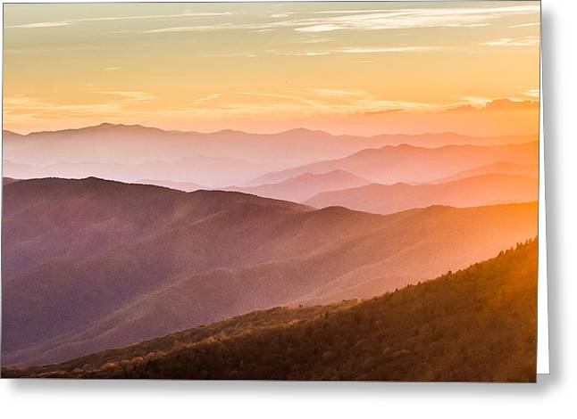 The Great Smoky Mountains Greeting Card by Shelby Young
