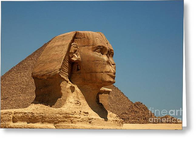 The Great Sphinx Of Giza Greeting Card by Joe  Ng