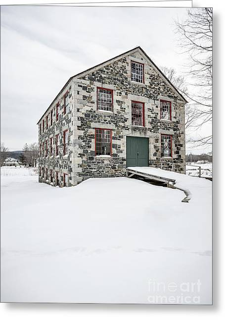 The Great Stone Barn Greeting Card by Edward Fielding