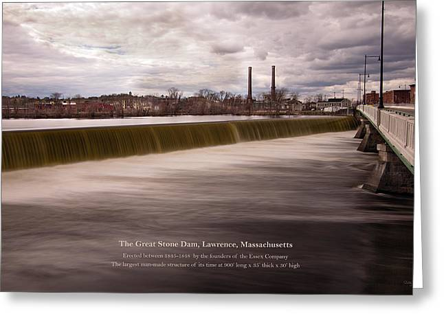 The Great Stone Dam Lawrence, Massachusetts Greeting Card