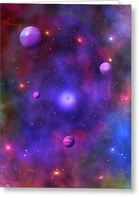 Greeting Card featuring the digital art The Great Unknown by Bernd Hau
