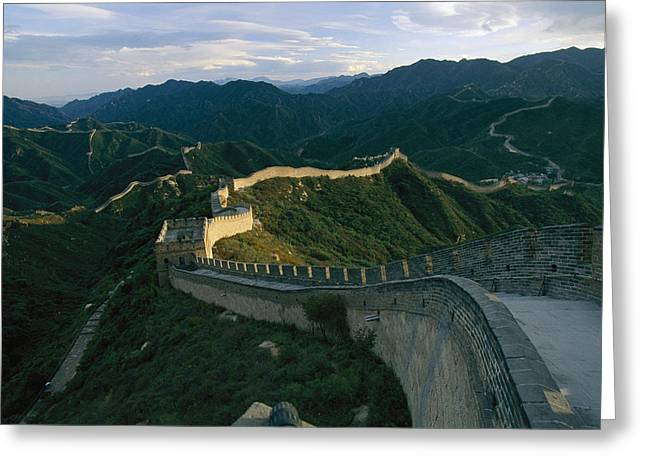 The Great Wall Of China At Badaling Greeting Card by James L. Stanfield