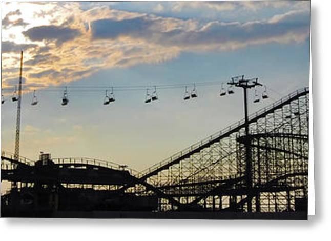 The Great White Roller Coaster - Adventure Pier Wildwood Nj Greeting Card
