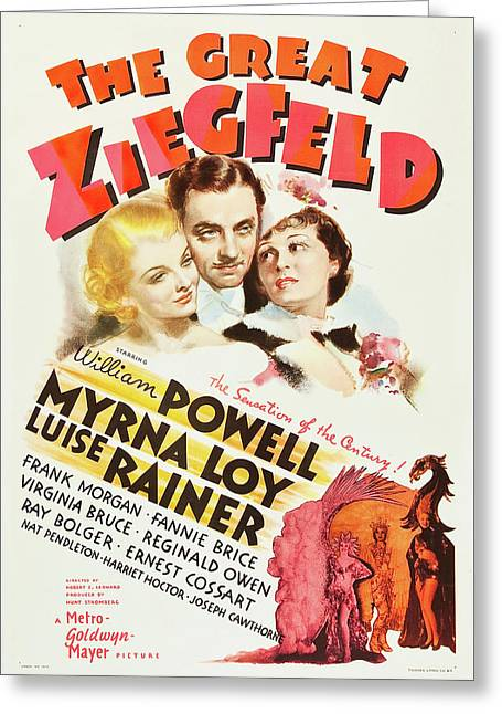 The Great Ziegfeld 1936 Greeting Card by M G M