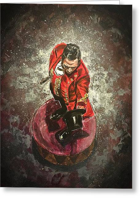 Greeting Card featuring the painting The Greatest Showman by Joel Tesch