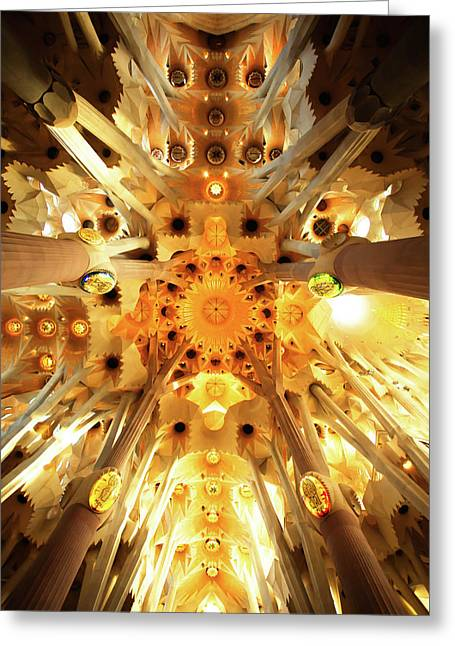 The Greatness Of God And Triumph Of Gaudi4 Greeting Card by Vadim Goodwill