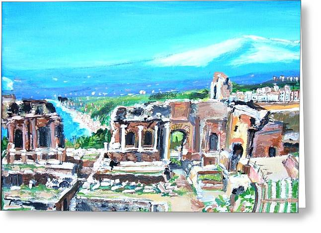 The Greek Theater At Taormina Greeting Card