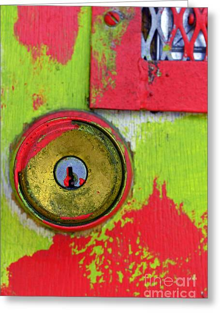 The Green And Red Dor Greeting Card by Tara Turner