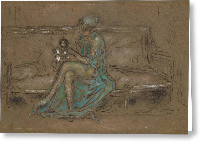 The Green Cap Greeting Card by James Abbott McNeill Whistler