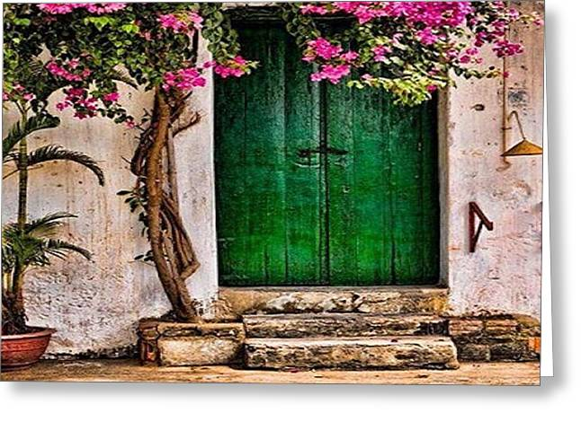 The Green Door Greeting Card