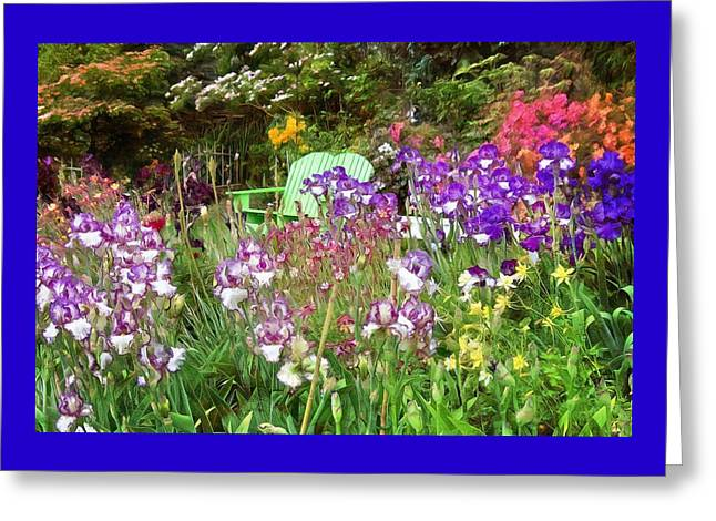 Greeting Card featuring the photograph Hiding In The Garden by Thom Zehrfeld
