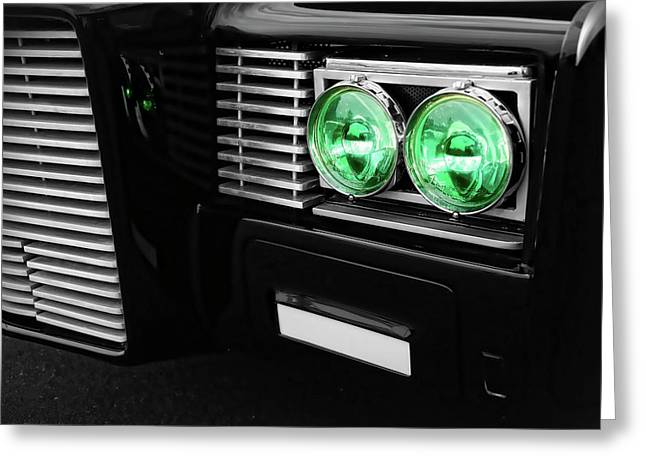 The Green Hornet Black Beauty Clone Car Greeting Card