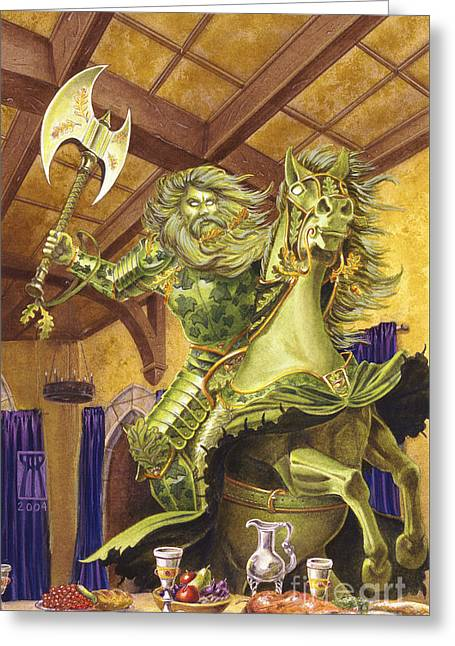 The Green Knight Greeting Card by Melissa A Benson
