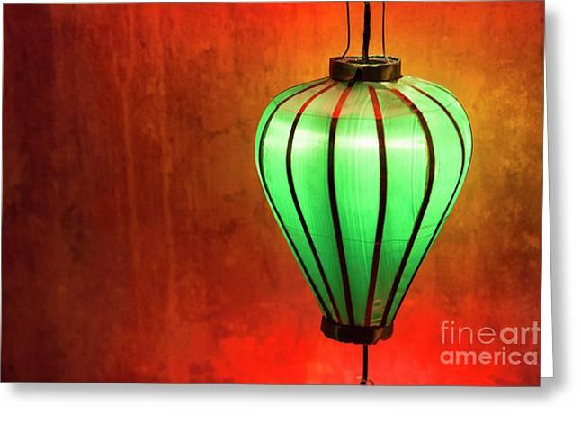 The Green Lantern Greeting Card by Timm Chapman