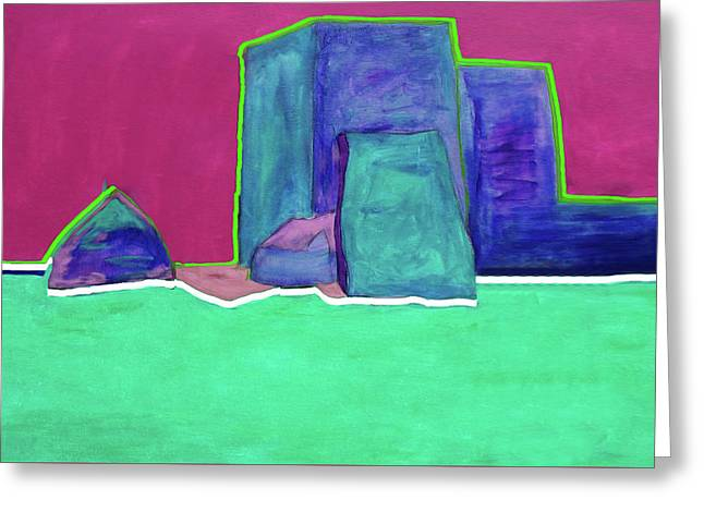 The Green Line By Nixo Greeting Card