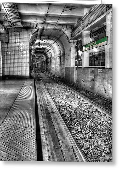 The Green Line Greeting Card by JC Findley