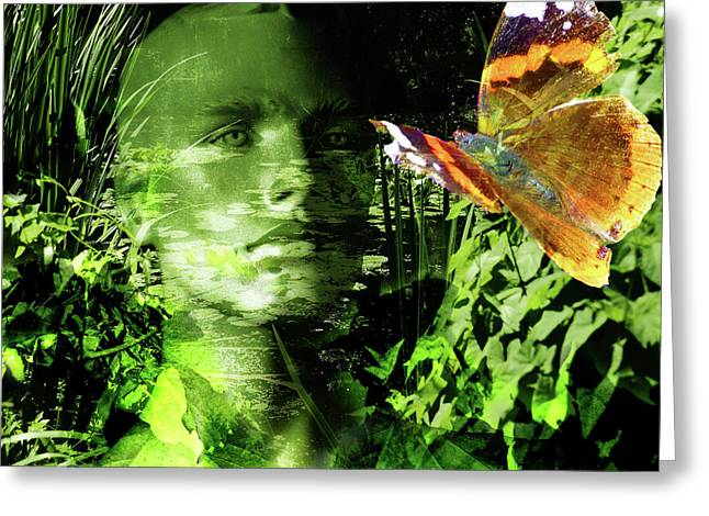 Greeting Card featuring the photograph The Green Man by LemonArt Photography