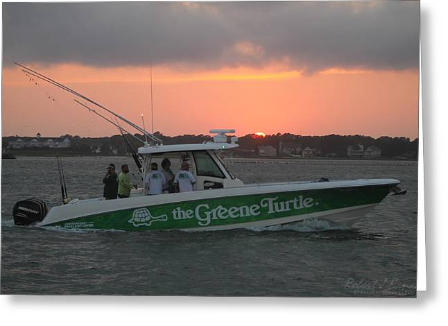 The Greene Turtle Power Boat Greeting Card