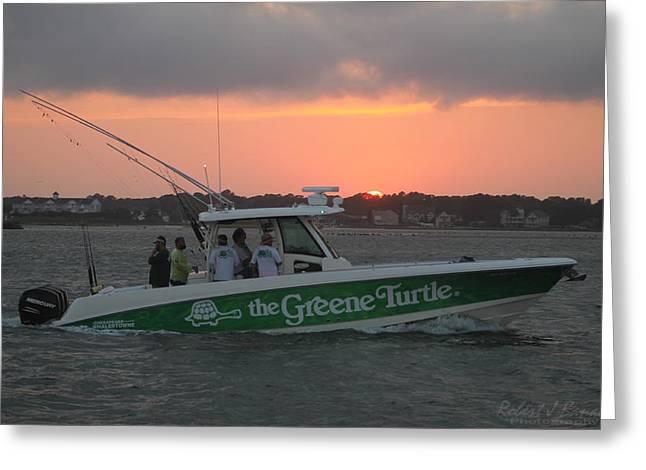 The Greene Turtle Power Boat Greeting Card