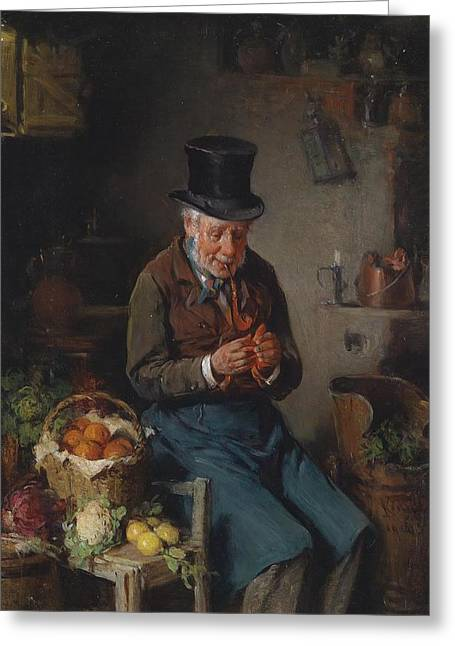 The Greengrocer  Greeting Card