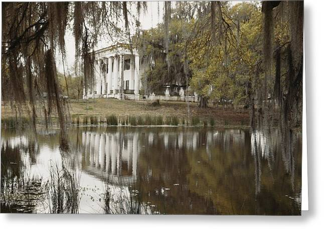 The Greenwoood Plantation Home Greeting Card