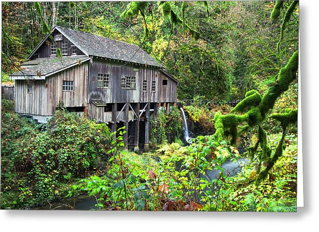 The Grist Mill, Amboy Washington Greeting Card
